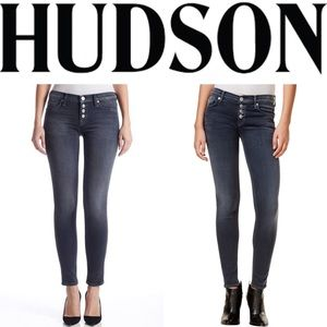 Hudson Ciara Super Skinny Exposed Button Jeans